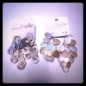 Bundle of glitzy Charming Charlie dangly earrings